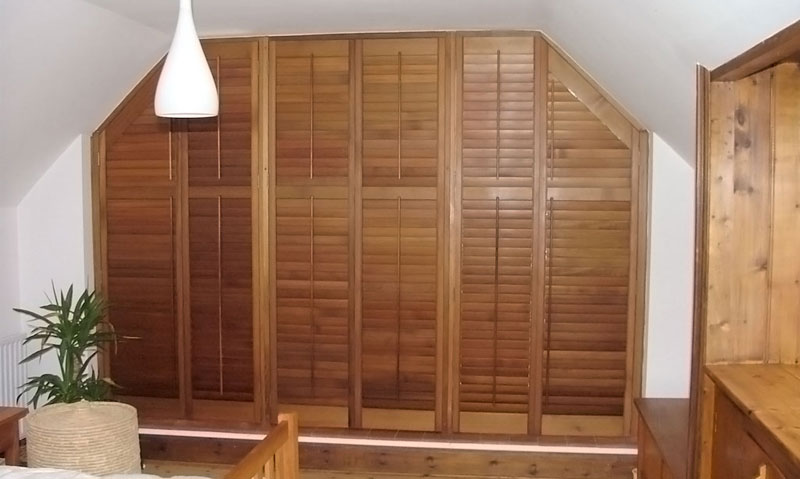 red cedarwood shutters