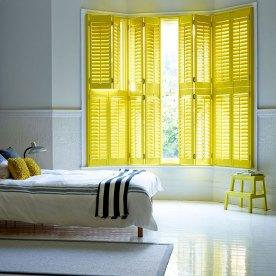 yellow open tier on tier shutters