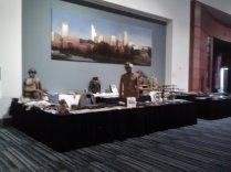 World War I and World War II U.S. 30th Infantry Division displays.