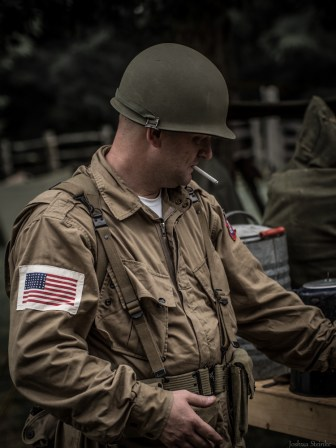 Paratrooper of the 504th Parachute Infantry Regiment, 82nd Airborne Division, U.S. Army.