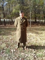 This year, I debuted my early-war (1940/1941), stateside training, impression. I also debuted my original wool overcoat in a picture! lol.