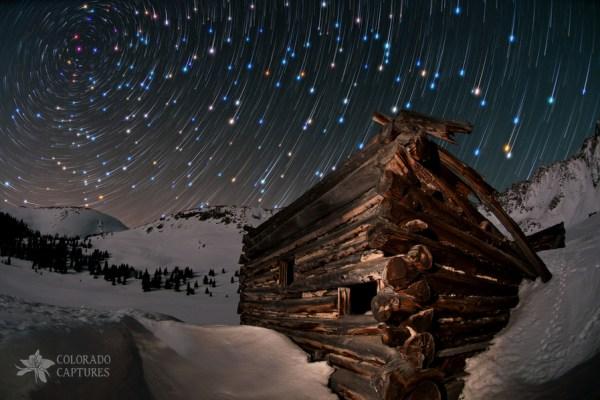star trails at night
