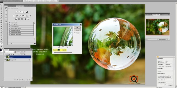 select a blur radius