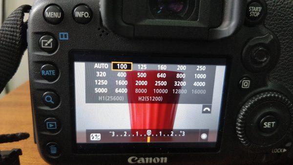 ISO settings of 7d mark 2
