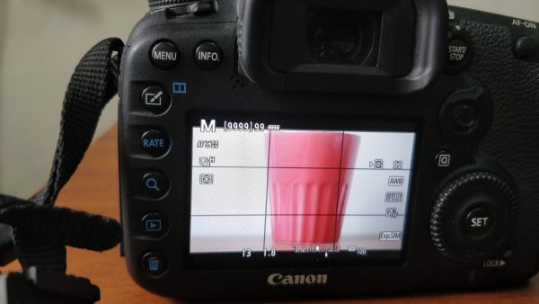 Exposure time of 1/13 s in DSLR