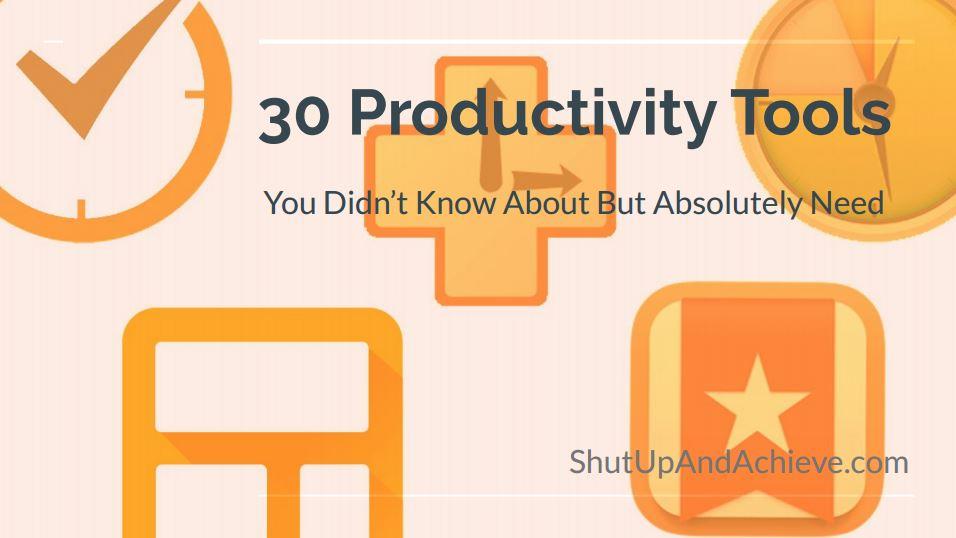30 productivity tools