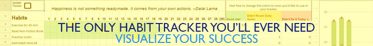 The Habit Tracker 2.0 Helps you notice patterns in your habits and track your progress