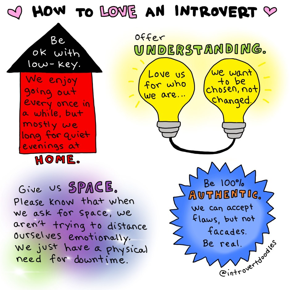 how to love an introvert: home, understanding, space, authenticity