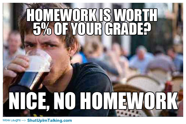 Image result for lazy college student meme grades