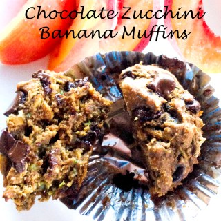 Chocolate Zucchini Banana Muffins