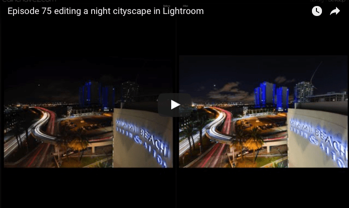 How to edit a Night Cityscape in Lightroom