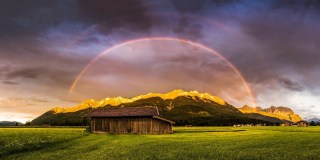 Rainbow and Alpenglow