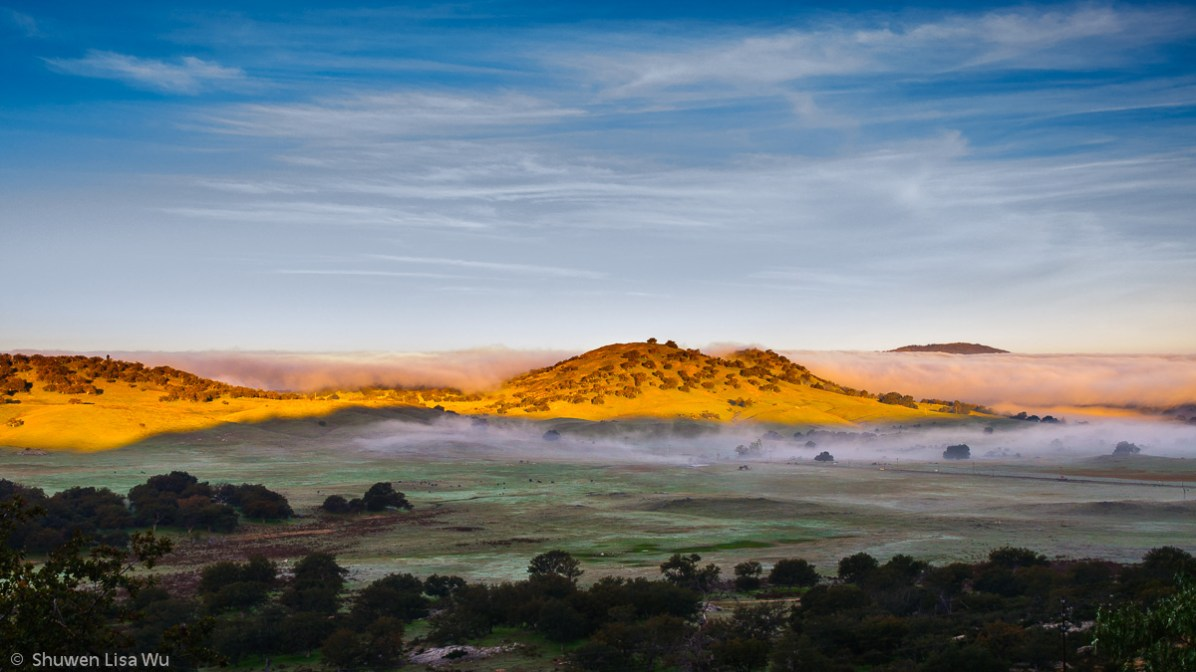 Santa Ysabel Morning -- looking into the valley of Santa Ysabel from Highway 78, San Diego County, CA. March 2009.
