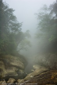 Foggy River, Shan Lin Xi, Nantou, Taiwan. March 2013.