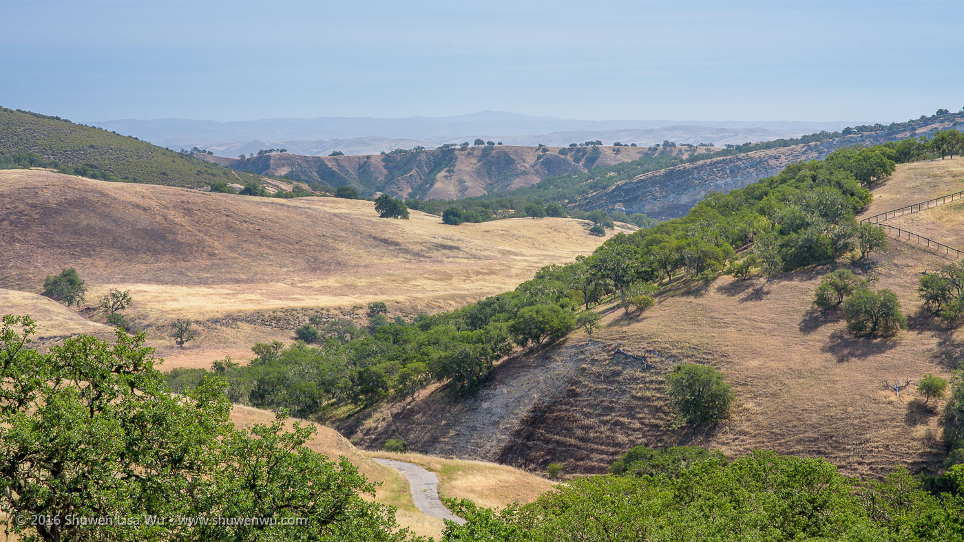 California Landscape along Nacimiento Lake Road near Paso Robles, California, April 2016.