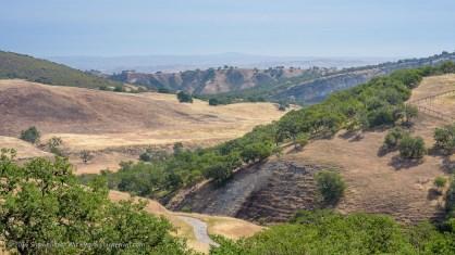 California Landscape along Nacimiento Lake Road near Paso Robles, California, April 2016.