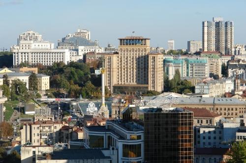 The modern center of Kiev, September of 2012