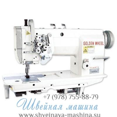 Двухигольная промышленная швейная машина GOLDEN WHEEL CS-8165S 1