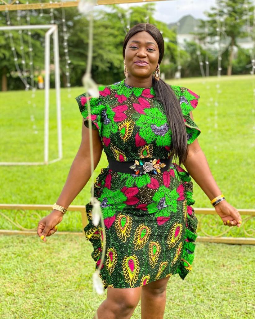 AFRICAN ANKARA SHORT GOWN (12)