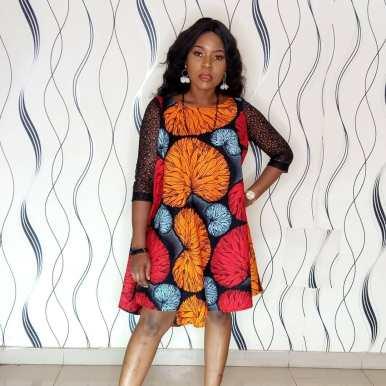AFRICAN ANKARA SHORT GOWN (14)