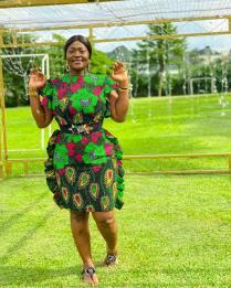 AFRICAN ANKARA SHORT GOWN (2)