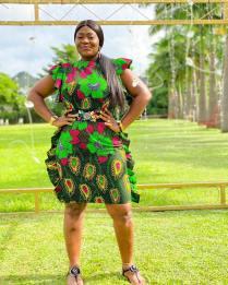 AFRICAN ANKARA SHORT GOWN (3)