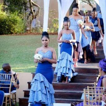 shweshwe traditional wedding dresses 2021 (10)
