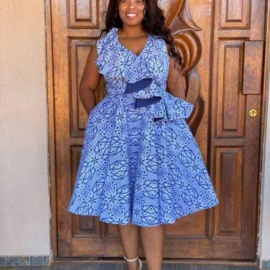 Latest Shweshwe Traditional Dresses For 2021 (10)