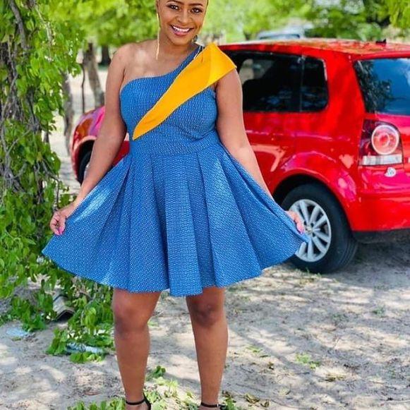 Latest Shweshwe Traditional Dresses For 2021 (5)