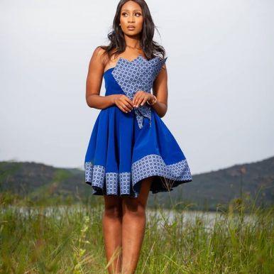 Perfect Traditional Shweshwe Dresses 2021 (15)