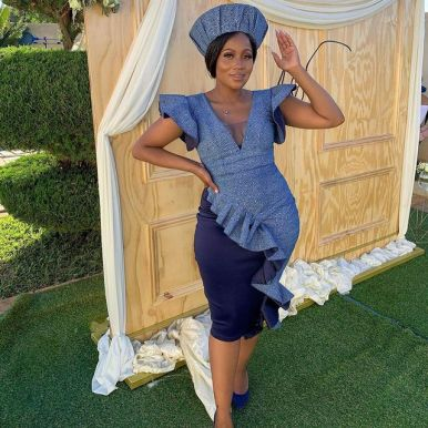 Perfect Traditional Shweshwe Dresses 2021 (17)