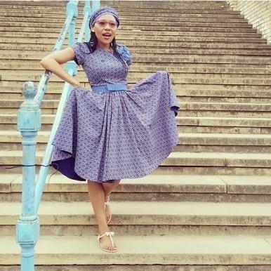 SHWESHWE SOUTH AFRICAN TRADITIONAL DRESSES 2021 (11)