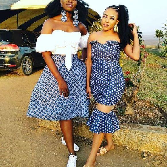 SHWESHWE SOUTH AFRICAN TRADITIONAL DRESSES 2021 (6)