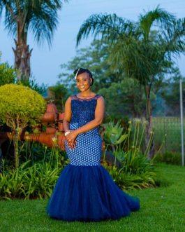 Shweshwe Traditional Dresses 2021 For Black Woman (1)