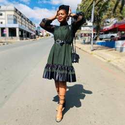 Shweshwe Traditional Dresses 2021 For Black Woman (13)
