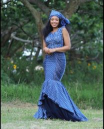 Shweshwe Traditional Dresses 2021 For Black Woman (5)