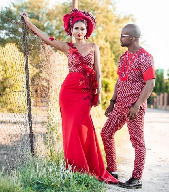 Trendy African Traditional Shweshwe Dress 2021 (10)