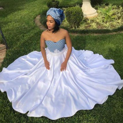 Trendy African Traditional Shweshwe Dress 2021 (13)