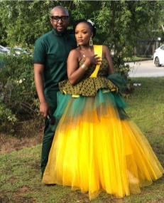 Trendy African Traditional Shweshwe Dress 2021 (17)