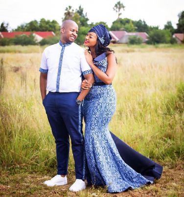 Trendy African Traditional Shweshwe Dress 2021 (6)