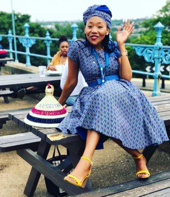 Trendy African Traditional Shweshwe Dress 2021 (9)