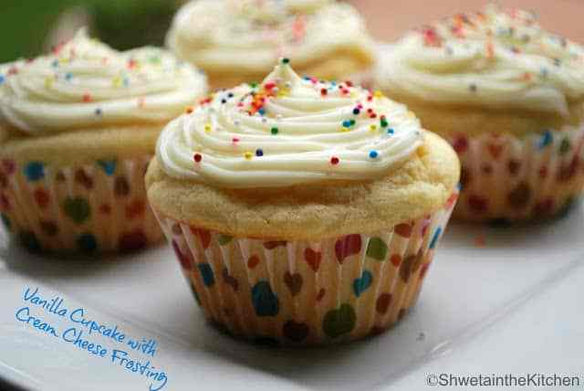 Vanilla Cupcake with Cream cheese frosting