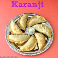Karanji -  Gujiya - Fresh Coconut Karanji - Fried Sweet Dumpling with Coconut Filling
