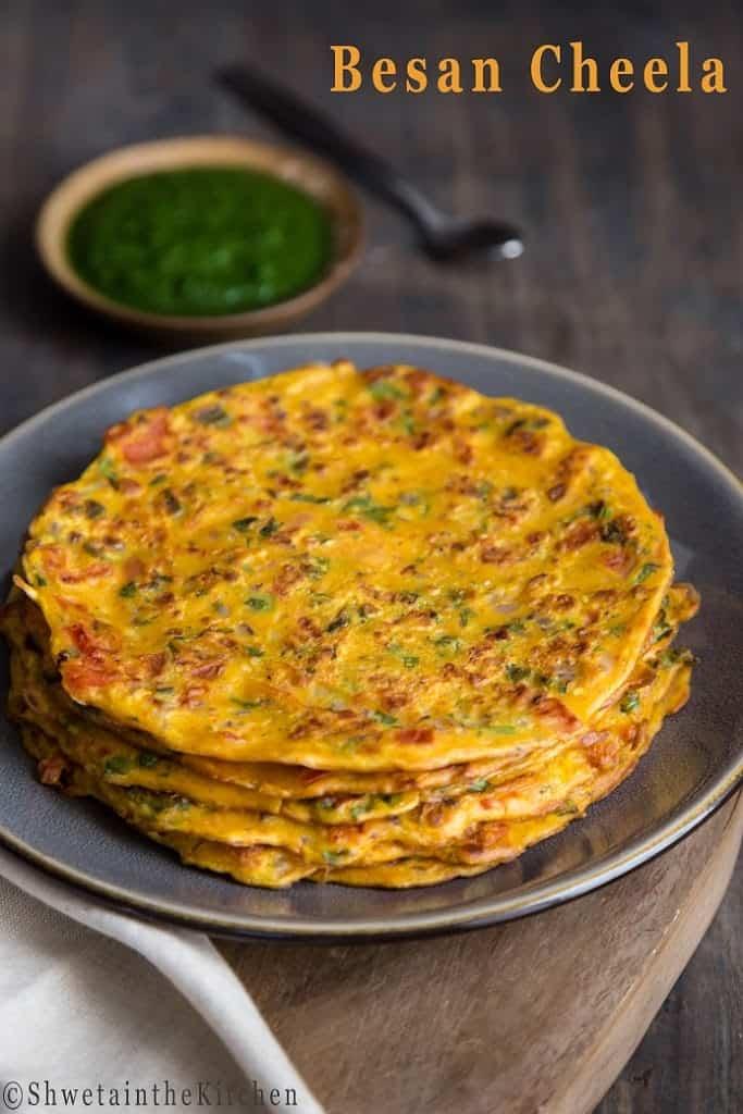 Tomato Omelette - Besan Cheela - Besan Chilla