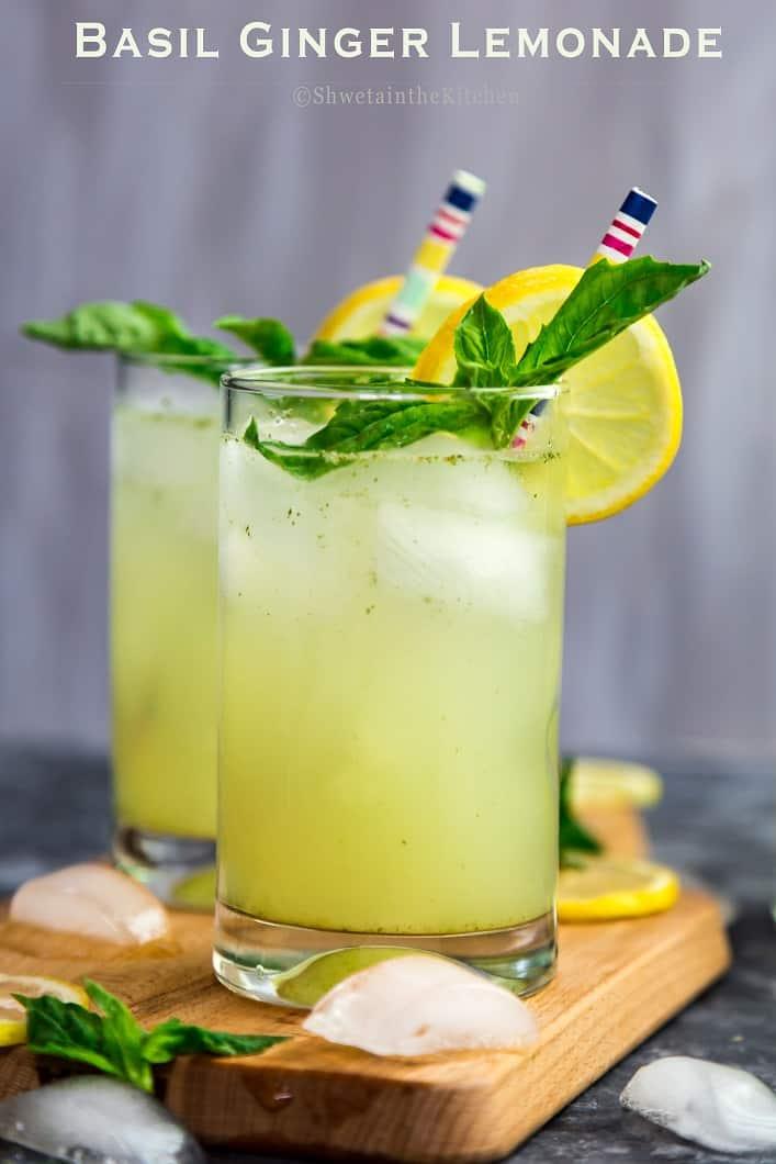 Basil Ginger Lemonade with Dorot