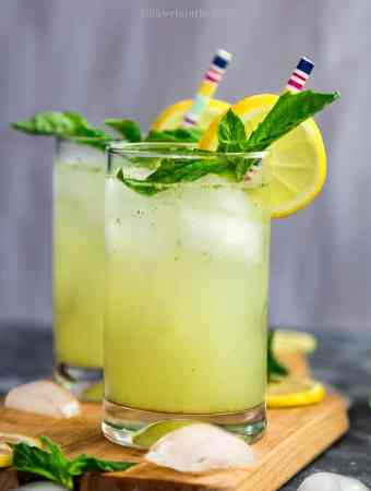 Basil Ginger Lemonade