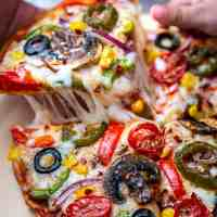 Veggie Pita Bread Pizza