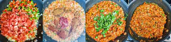 Step 2 - Cheesy Garlic Masala Pav Sliders