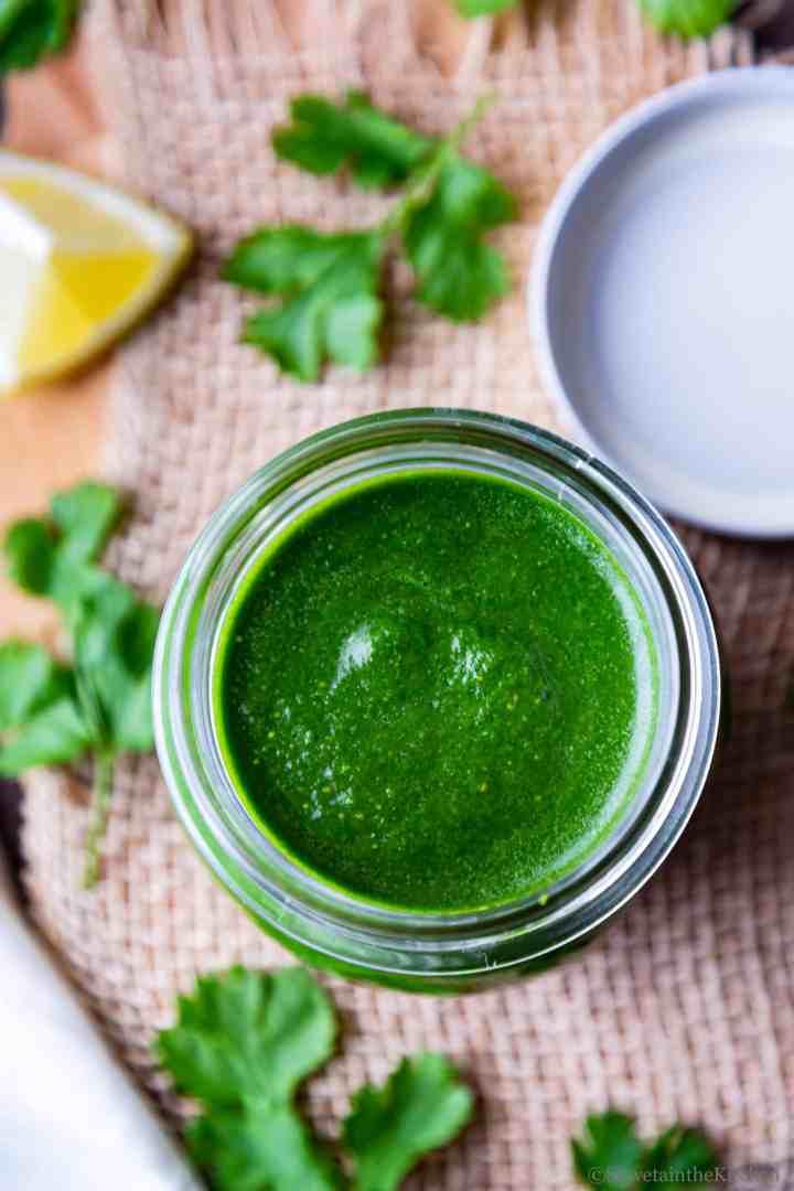 Green Chutney - Cilantro Chutney