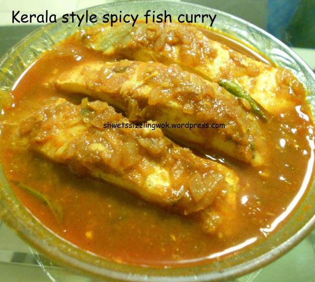 Kerala style spicy fish curry
